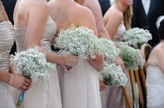 No flowers? :  wedding Babys Breath Bridesmaid Bouquets