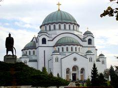 "Serbian-orthodox temple ""Hram Svetog Save"" on Vracar hill in Belgrade, Serbia"