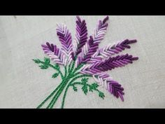 Hand Embroidery: Brazilian Embroidery /Bullion Knot Embroidery Bunch - YouTube