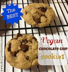 The BEST Vegan Chocolate Chip Cookies. Made these tonight and so far they are the best i have tasted.