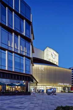 View full picture gallery of Gemdale Lake Town Dajing Shopping Mall Lighting Design Facade Lighting, Exterior Lighting, Lighting Design, Retail Facade, Shop Facade, Building Exterior, Building Facade, Shopping Mall Architecture, Shoping Mall