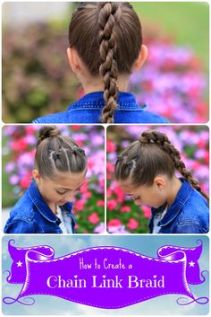 Chain Link Braid | Hairstyles for Sports | Cute Girls Hairstyles