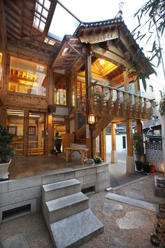 Hanok is traditional house style in Korea Japan Architecture, Chinese Architecture, Modern Architecture House, Interior Architecture, Futuristic Architecture, Modern Houses, Korean House, Asian House, Asian Interior