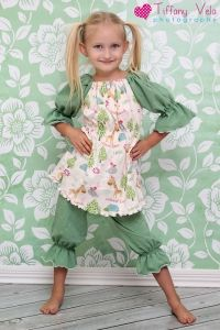 PDF sewing pattern for girls PJ's by Create Kids Couture- nightgown, top and bloomers.