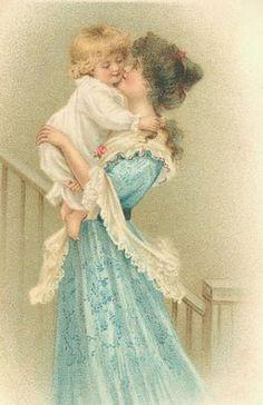 Happy Mother's Day Everyone! A few favorite Mother Images for you to enjoy. Images Vintage, Vintage Pictures, Vintage Ephemera, Vintage Postcards, Decoupage, Etiquette Vintage, Illustration Art, Illustrations, Victorian Art