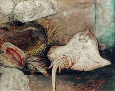 James Ensor / Still life with skate.  Art Experience NYC  www.artexperiencenyc.com/social_login/?utm_source=pinterest_medium=pins_content=pinterest_pins_campaign=pinterest_initial