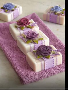 shabby rose soap