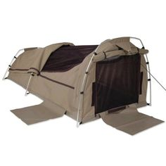 Sahara Nomad DOUBLE Dome Canvas Swag and Bag - BROWN
