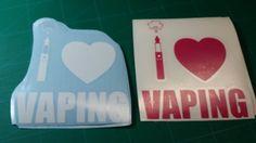 I Love Vaping w/heart Vape Vinyl Decal/Sticker | The Spot Btown