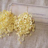 タティングレース モサモサピアス (lemon) 受注制作の画像