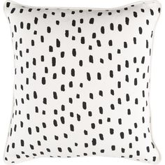 Glyph Dalmatian Dot Cotton Throw Pillow Cover (£21) ❤ liked on Polyvore featuring home, bed & bath, bedding, bed pillows, home decor and pillow