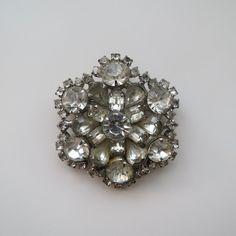 Vintage rhinestone brooch