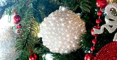 These Pearl Christmas Tree Ornaments are a fun craft that results in a beautifully unique Christmas decoration that you can make for yourself or as a gift.