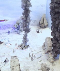 Star Wars - Battle of Hoth Diorama