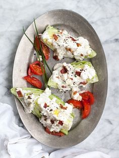 Blue Cheese Wedge Salad | foodiecrush.com