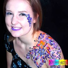 Adult face & Body art for club nights, hen nights by Glitter-Arty Face Painting, Bedford, Bedfordshire Adult Face Painting, Hen Nights, Glitter Face, Henna Artist, Face Art, Face And Body, Watercolor Tattoo, Body Art, Make Up