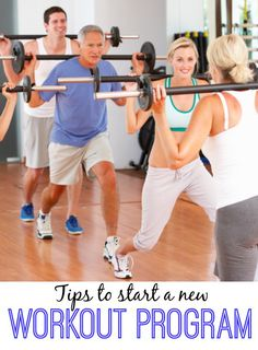 Here are some great tips to help you be successful with a new workout program.