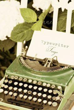 Olive typewriter.