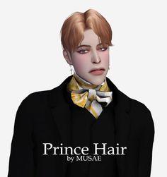 Sims 4 Hairs ~ Effie Prince hair by Musae The Sims, Sims Love, Sims 4 Cas, Sims Cc, Kpop Short Hair, Kpop Hair, Korean Men Hairstyle, Prince Hair, Best Sims