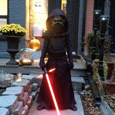 Kylo Ren Costume  My son dressed in his handmade Kylo Ren Halloween costume.
