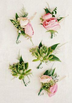 Featured Photographer: Krista A. Jones Photography; Wedding boutonniere idea.