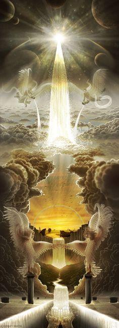 Revelation of God Bible (NOG) A New Jerusalem 9 One of the seven. - Nuran Tortu - - Revelation of God Bible (NOG) A New Jerusalem 9 One of the seven. Braut Christi, Fantasy Art Angels, Prophetic Art, Biblical Art, Living Water, Mystique, Jesus Pictures, Wow Art, Visionary Art