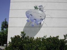 Trompe L'oeil Murals | trompe l oeil murals in palo alto california 3 alien saucer crash ...