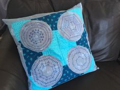 PROJECT OF THE MONTH: AcuStitch Pillow | Janome Life Janome Embroidery Machine, Embroidery Files, Embroidery Thread, Fabric Glue, Coordinating Fabrics, Pillow Forms, Folded Up, Working Area, Different Shapes