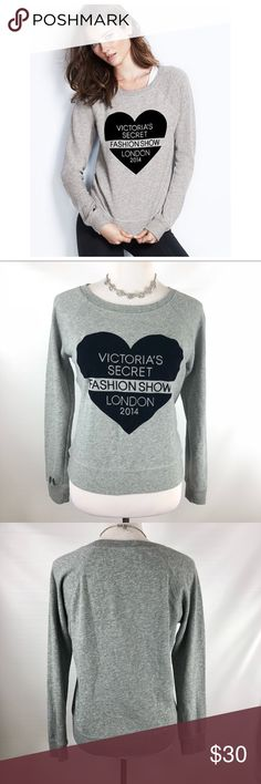Victorias Secret 2014 London Fashion Show Popover Gray VS sweatshirt as seen on Ariana Grande. Excellent pre owned condition. No holes or stains. Victoria Secret 2014, Victoria Secret Fashion Show, Hoodies, Sweatshirts, Fashion Design, Fashion Tips, Fashion Trends, London Fashion, Ariana Grande