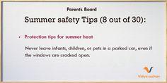Summer safety tips (tip 8)