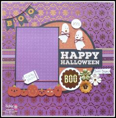 LOVE this layout from @scrappindhilly using our newest Halloween paper!  This stack is currently available at @joannstores  :)