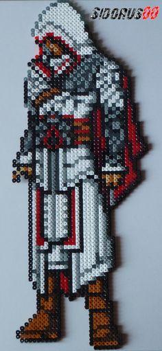Assassin's Creed Ezio Auditore Perler beads hama by Sidorus00 H= 45 cm L= 18 cm