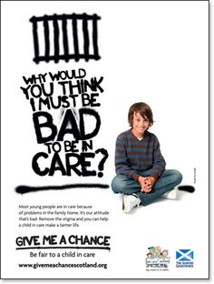 Give Me A Chance Scotland / Who Cares? Give It To Me, How To Make, You Must, Young People, Scotland, Children, Poster, Young Children, Boys