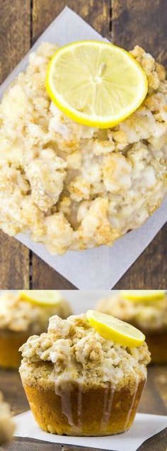 These Glazed Jumbo Lemon Crumb Muffins from No Spoon Necessary are perfect for breakfast, brunch or a mid-day snack. They are moist, fluffy, and loaded with tart lemon flavor!