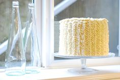 RUFFLE CAKE, easy step by step instructions