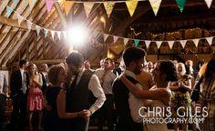 dancing and bunting in fitzleroi barn