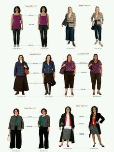 "It's more important to understand how proportion works for you, that what your ""body shape"" might be ... this is a great example of small changes that make a big difference!   www.coriburchell.com/styleclarity"