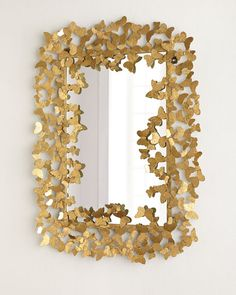Butterfly Mirror by Jamie Young at Horchow. Home Decor Bedroom, Diy Home Decor, Art Beauté, Golden Mirror, Spiegel Design, Butterfly Room, Butterfly Frame, Butterfly Decorations, Mirror Decorations
