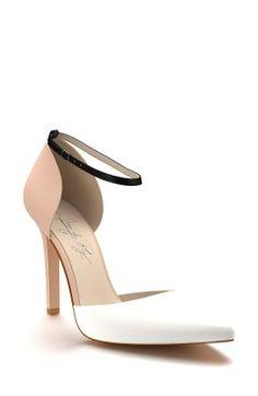 05c8eb9cf14f Shoes of Prey d Orsay Ankle Strap Pump (Women) Peep Toe Pumps