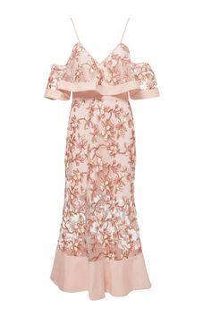 Alice Mccall | Crystallized Off-The-Shoulder Dress | WedLuxe Magazine | #wedding #luxury #weddinginspiration #bridalshower #dress #bridetobe #style                                                                                                                                                                                 More