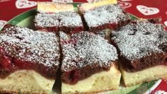 Dvoubarevný tvarohový koláč s ovocem – RECETIMA Desserts, Food, Art, Tailgate Desserts, Art Background, Deserts, Essen, Kunst, Postres