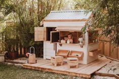 Kids Cubby Houses, Kids Cubbies, Play Houses, Playhouse Plans, Playhouse Outdoor, Outdoor Play, Backyard Play, Backyard For Kids, Farmhouse Budget
