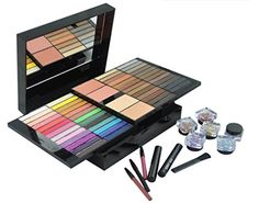 PhantomSky 85 Color Eyeshadow Palette Makeup Cosmetic Contouring Combination with Powder / Blusher / Lipgloss / Concealer - Perfect for Professional and Daily Use * Be sure to check out this helpful article. #MakeupContouring