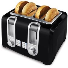 The Black & Decker Toaster is the perfect kitchen appliance for many of your heating and toasting needs. Whether you are toasting bagels, toaster hash browns, frozen waffles, toaster pa. Black 4 Slice Toaster, Best 4 Slice Toaster, Black And Decker Toaster, Toaster Ovens, Stainless Steel Toaster, Frozen Waffles, Small Kitchen Appliances, Kitchen Small, Kitchen
