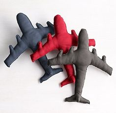 Jetliner Pillow - Want to sew my own version of this for my son's bed.