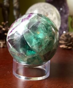 Sun Moon and Earth ~ Products ~ Fluorite sphere orb crystal ball ~ Shopify