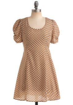 polka dot vintage style dress