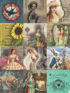 7 Free Creative Collage Sheet Printables For Decoupage Tissue Paper · Artsy Fartsy Life Decoupage Tissue Paper, Decoupage Vintage, Decoupage Paper, Vintage Paper, Decoupage Printables, Printable Scrapbook Paper, Printable Paper, Free Printable, Free Collage