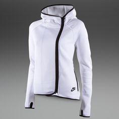 Nike Sportswear Womens Tech Fleece Cape - Womens Tennis Clothing - White - Black