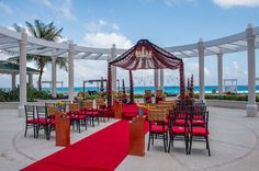 An amazing view from your South Asian #wedding ceremony at Sandos #Cancun Luxury Resort